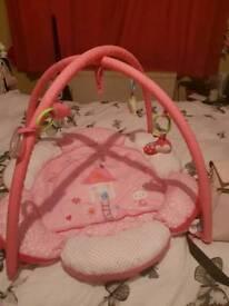 Baby girl activity mat