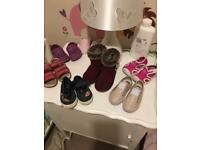 Girls baby size 4 shoe bundle all in great condition