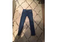 Zara blue denim jeans size 10