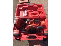 Hilti SCW 22-A Cordless Circular Saw + Charger and Batteries and Case...v.g.c.