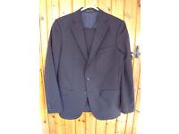 Zara Man navy pin stripe effect wool man's 2-piece suit.eur 46/usa 36 jacket; eur 40/usa 31 trousers