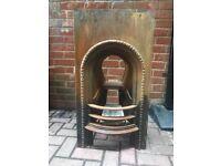 A 1874 cast iron fireplace