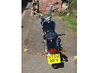 Suzuki GZ125 Marauder motorbike, 02 plate,v. low mileage(3500),11 months MOT 2 advisories on brakes