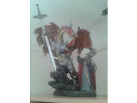 LARGE DARK LEGENDS MERLIN & DRAGON ORNAMENT/COLLECTABLE