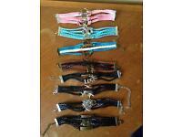 Faux leather bracelets £2.25 each or £15 the lot