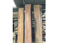 Reclaimed timber boards from a ship keruing not oak beech pine wood