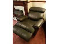For Sale One leather recliner chair in black leather