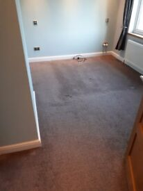 2x second hand carpets dark stone colour
