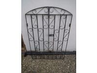 Wrought iron pair of gates in black.Very good quality pair of blacksmith made gates. Good condition.