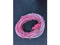 Electric Cable 25 Meters Red Used Caravan Hook Up
