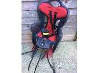 Rear child bike seat