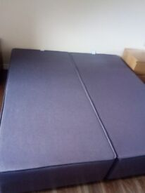 Superking Divan Base with 2 drawers (Can also be used as 2 single bed bases!)