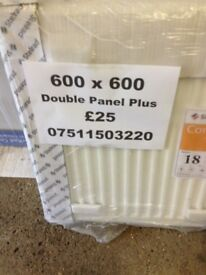 CENTRAL HEATING RADIATOR STELRAD Double panel plus 600mm high x 600 mm long.