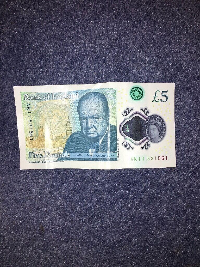 Ak £5 note