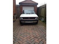 Mk1 Golf 1.8 White 3 Door Tin Top 1983 1.8 GTI ENGINE, LOWERED, FAST ROAD CAM, VERY GOOD CONDITION