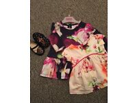 REDUCED *TED BAKER* LIKE NEW baby girl dress and shoes bundle