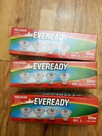3X Boxes Eveready MR16 50w Bulbs (12 bulbs) NEW