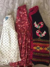 Girls age 3-4 cardigan and long sleeved tops