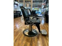 Beauty/Hairdressing chair garnering. Leather and chrome excellent condition