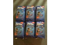 6 x 10 pack of unopened Huggies pull-ups nighttime. Size L. RRP: £26