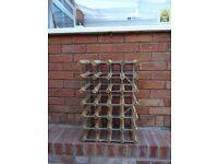 Metal/Wood wine rack.