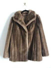 St Michel Faux Fur Coat