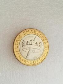 £ 2 pound coin William , s 2016.......