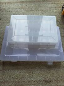 Hobby Craft plastic boxes