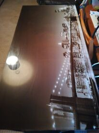 Glass topped desk for sale