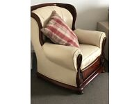 Cream Leather Armchairs (5) for sale