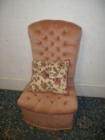 Peach Fabric Chair ID 19/8/18
