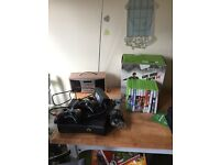 Xbox 360 with 3 controllers and various games
