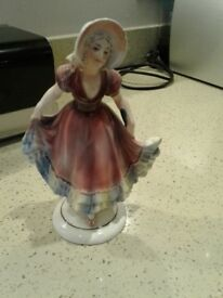Lady porcelain figurine