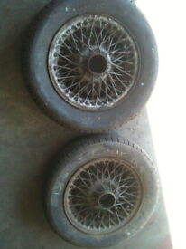 MG Midget / Triumph Spitfire wire wheels x 2