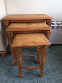 Nest of pine side tables