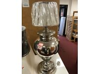 silver/cream table lamp