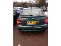 vauxhall astra, 1.6, 2002, drives well , no power steering