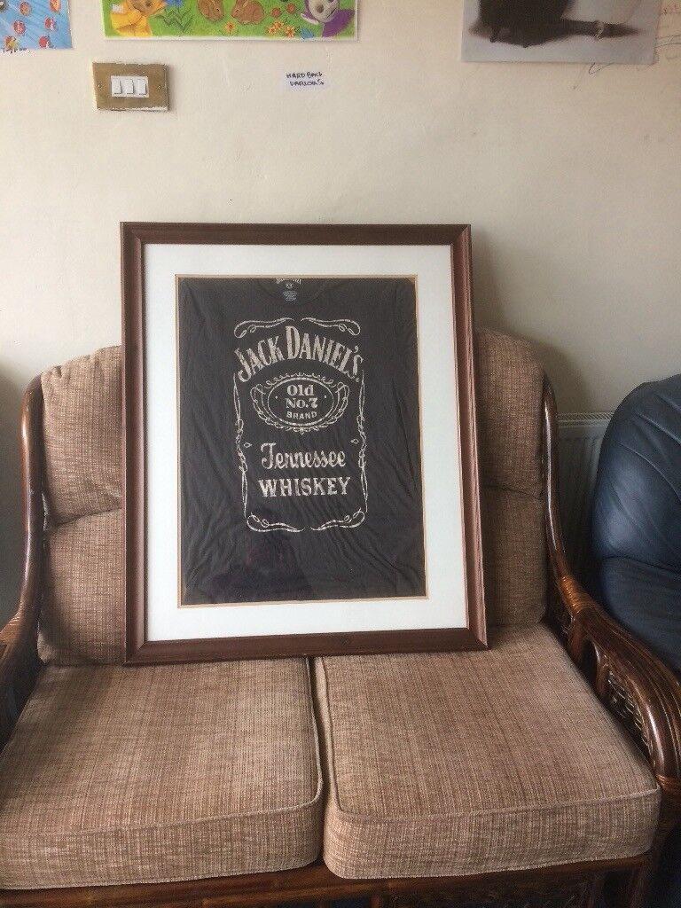Large framed Jack Daniels t-shirt. Leicester ... 1deb6484d