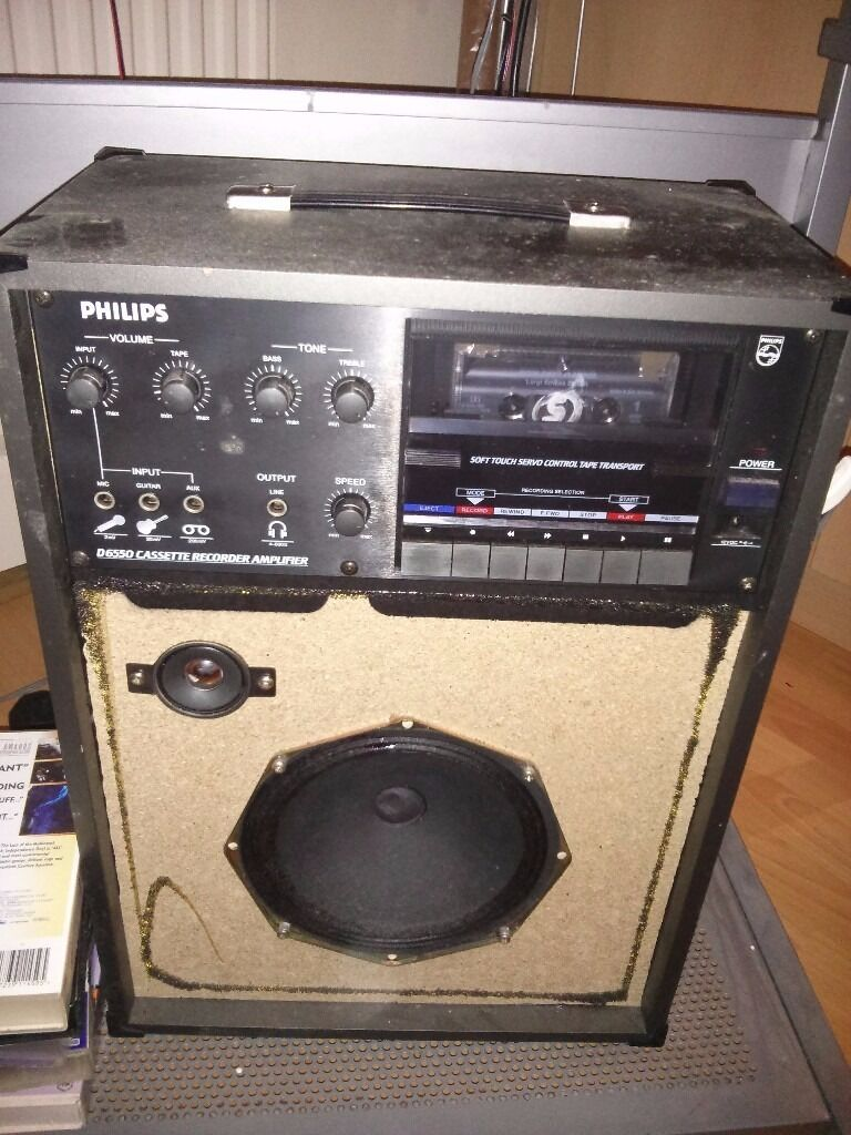 Karaoke Machinein Gravesend, KentGumtree - Karaoke Machine with cassette reader and recorder D6550 CASSETTE RECORDER AMPLIFIER by Phillips. An old fashioned karaoke machine that can be used for multi purpose functions such as Listening cassettes Recording into the cassettes For Guitar & other...