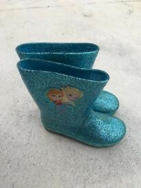 Girls frozen light up boots