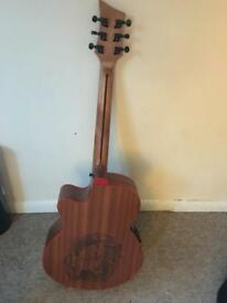 Lindo red dragon electro acoustic guitar