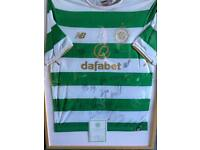 Signed Framed Celtic Shirt, 2017/2018 season