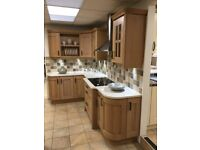 Kitchen display- Washed Oak