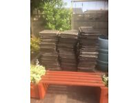 Approx 180 interlocking roof tiles. Buyer to pick up