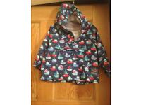 JoJo Maman Bebe pack away waterproof jacket 12-18 months