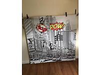 5ft x 5ft superhero themed vinyl photography backdrop