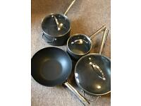 set of Anolon pans