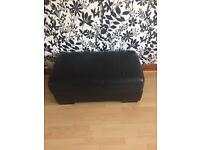 3 seater and 1 seater leather sofa with recliner