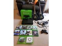 Xbox one 500gb 2 guitars wireless adaptor 10+ games