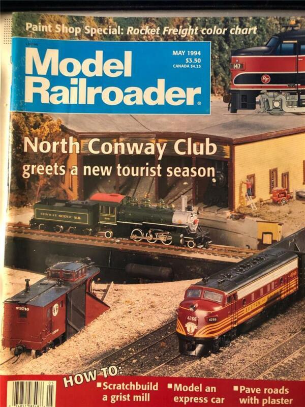 Model Railroader May 1994 New Hampshire RR Layout Tampa Armature Works Drawing